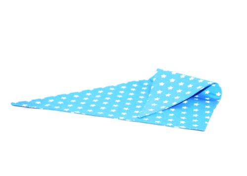 blauwe bandana met witte sterretjes