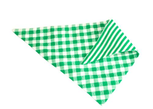 Bandana groen gestreept en ruitjes