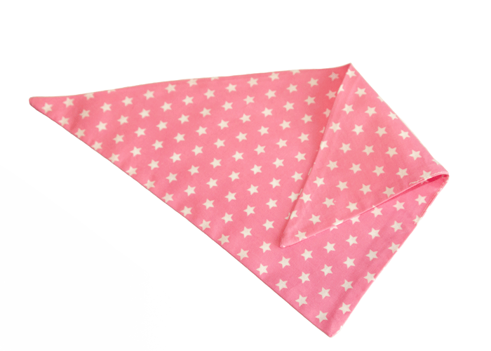 roze bandana met witte sterretjes