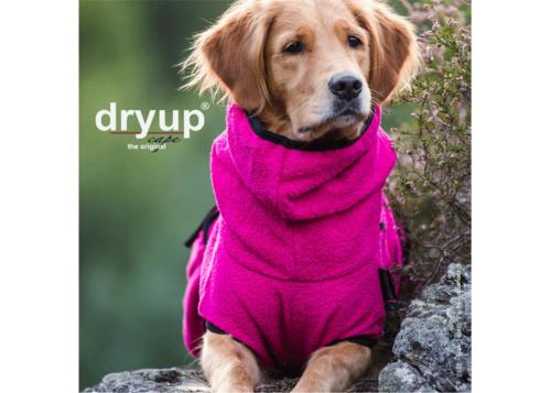 badjas hond roze dryup